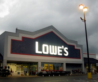 Photo: Lowe's store.