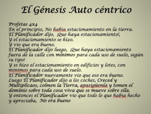 El Genesis Auto-Centrico