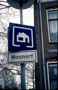 A Dutch sign indicating the presence of a Woonerf street (source: http://streetswiki.wikispaces.com/Woonerf)