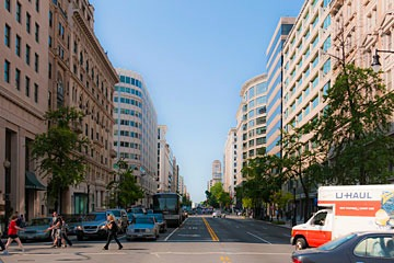 Washington DC's 14th Street streetscape