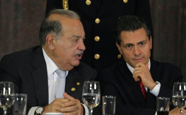 Carlos Slim and Enrique Peña Nieto